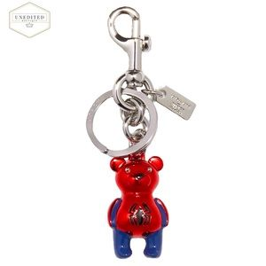 🆕 COACH Marvel Spider-Man Bear Bag Charm